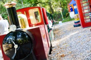 Wellington Country Park play area with miniature train
