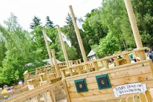 Wellington Country Park kids play area brand new Pirates Ship wooden adventure play area Berkshire family attraction
