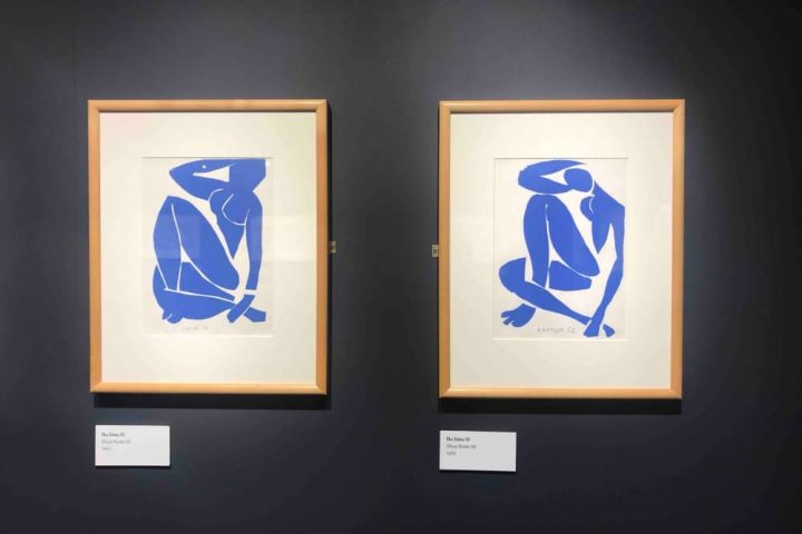 Blue Nudes lithograph cutouts The Base Greenham Common