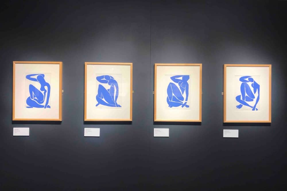 Henri Matisse lithographs blue nude cut outs The Base Greenham Common