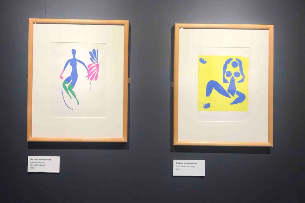 HENRI MATISSE LITHOGRAPH OF CUT OUTS EXHIBITION THE BASE GREENHAM COOMMON NEWBURY