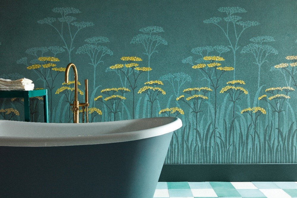 Little Greene Paint Co_Achillea_Aurora_Detail_Wallpaper