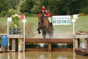 Wellington Country Fair and Horse Trials cross country going over the fence into water