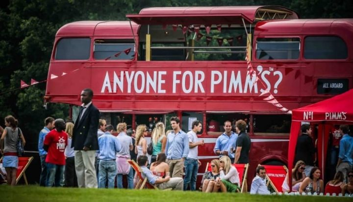 Wellington Country Fair and Horse Trials Pimms Buss