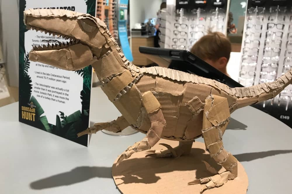 CARDBOARD RQAPTOR THE LEXICON bracknell T REX ENCOUNTER