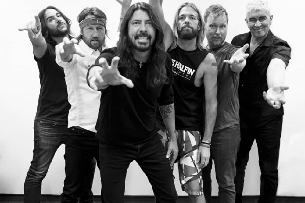 Rock band The Foo Fighters