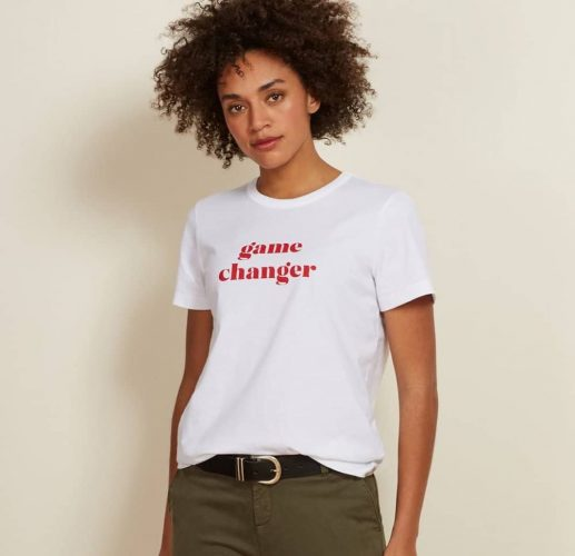 Baukjen slogan t shirt 'game chnager'