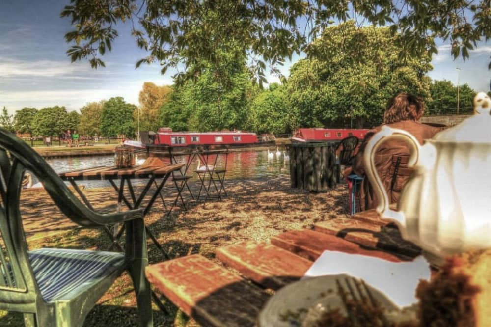 Teashop By the canal in Newbury