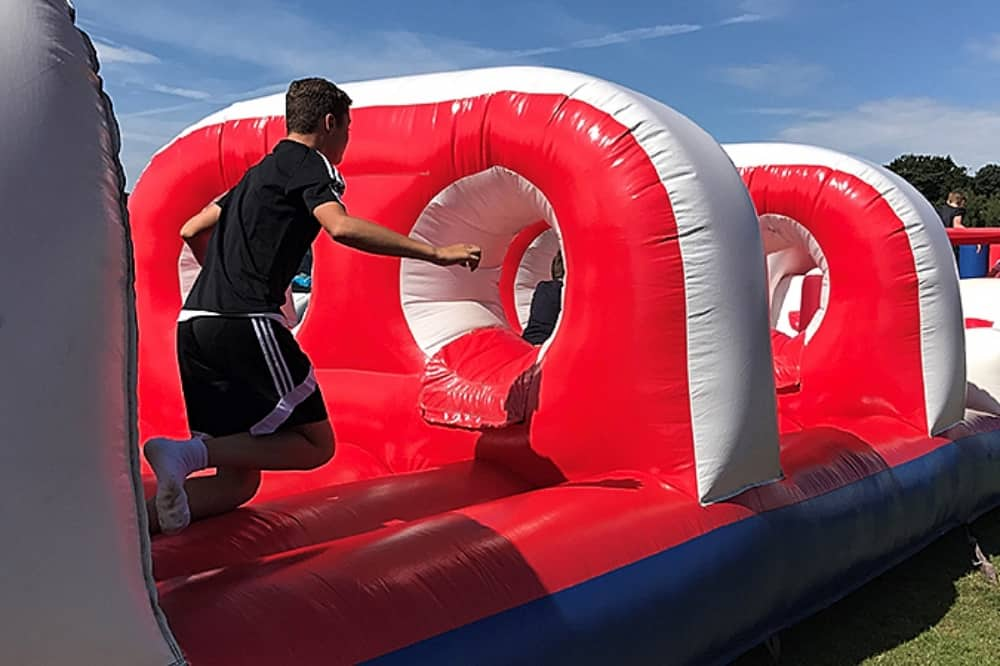 Inflatable obstacle course wellington country park reading