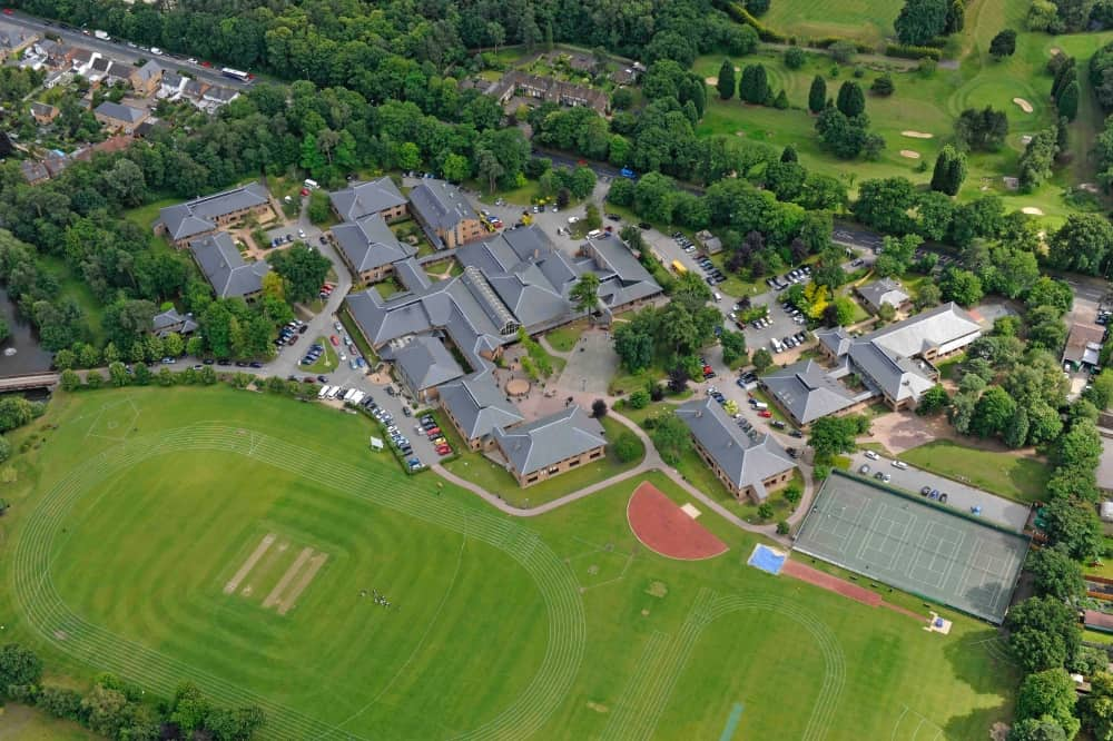 LVS Ascot School co ed 4-18 Ascot Berkshire aerial view