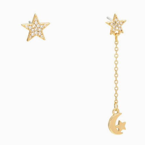 Gift Pop Gift Pop Fly Me To The Moon star stuf and mon charm drop earrings
