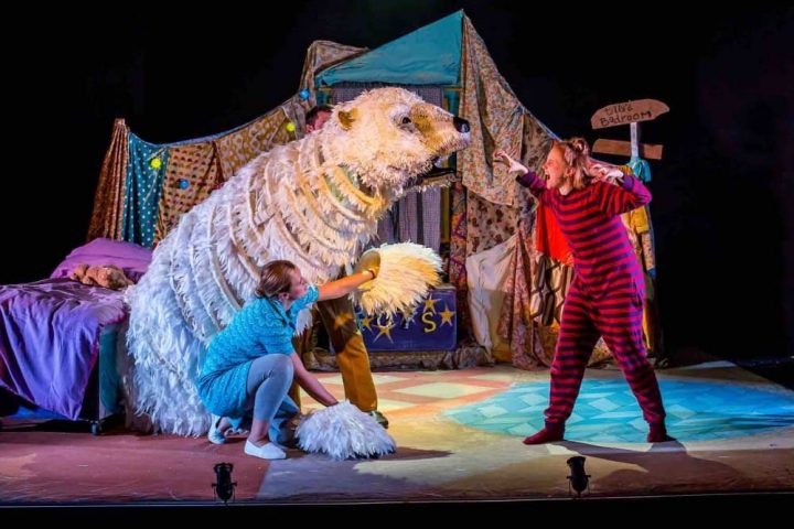 THe Bear Norden Farm Puppet of a polar bear theatrical version of Raymond Briggs story