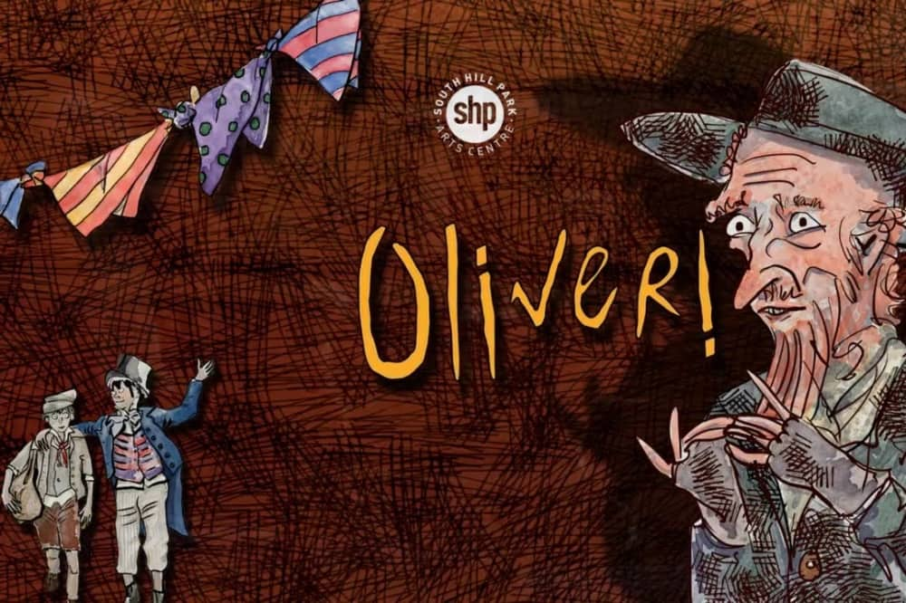 Oliver! South Hill Park illustration poster