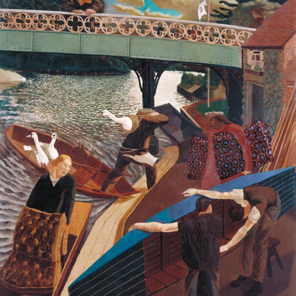 Stanley Spencer Swan Upping at Cookham Oil Painting Tate