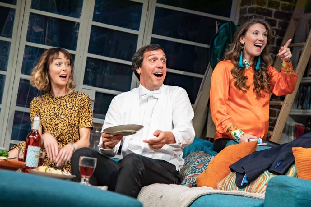 What's in a Name? UK tour cast laura Patch Alex Gaumand and Summer Strallen