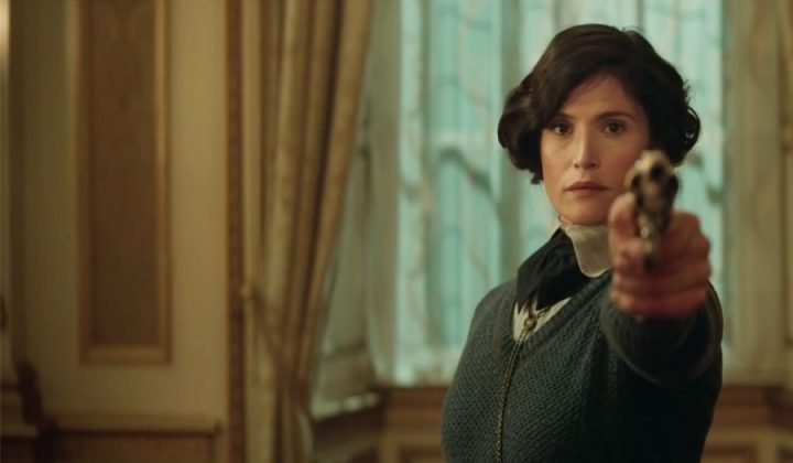 the-kings-man-screenshot gemma arterton with a gun in The Kngsman