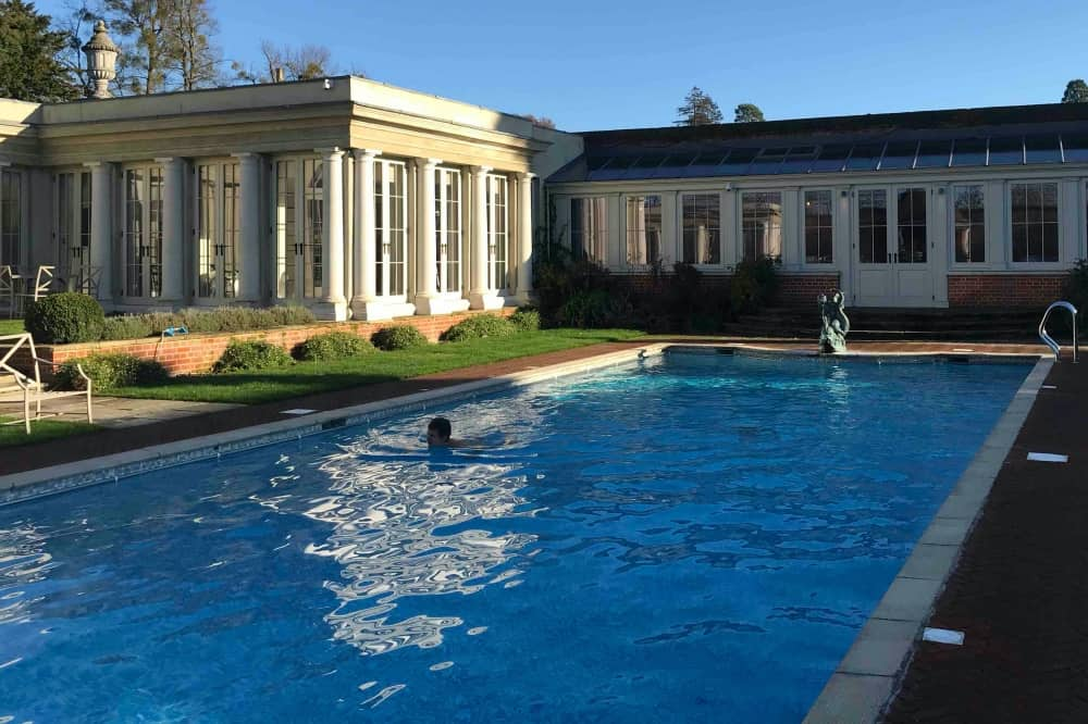 Cliveden Spa outdoor pool Winter