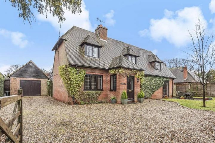Haslams upper Bucklebury county family home red brick chalet style house gravel drive