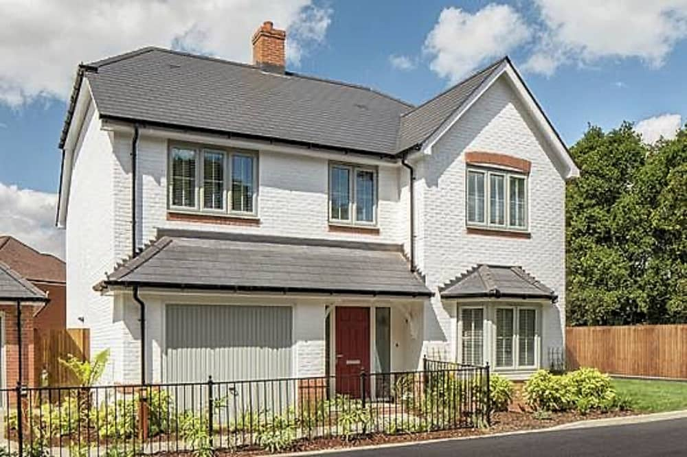 Dukes Meadows Riseley white 4 bbed house with garage