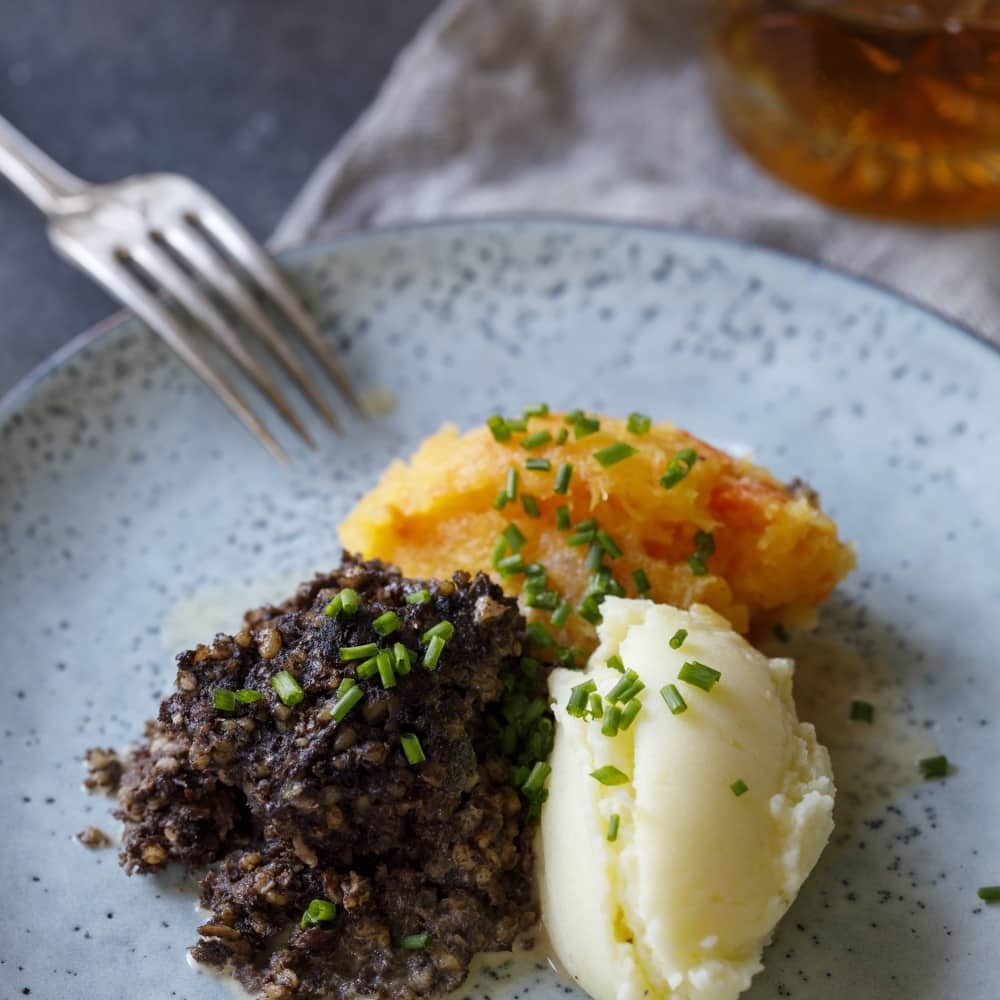 Burns Night Haggis neeps and tatties