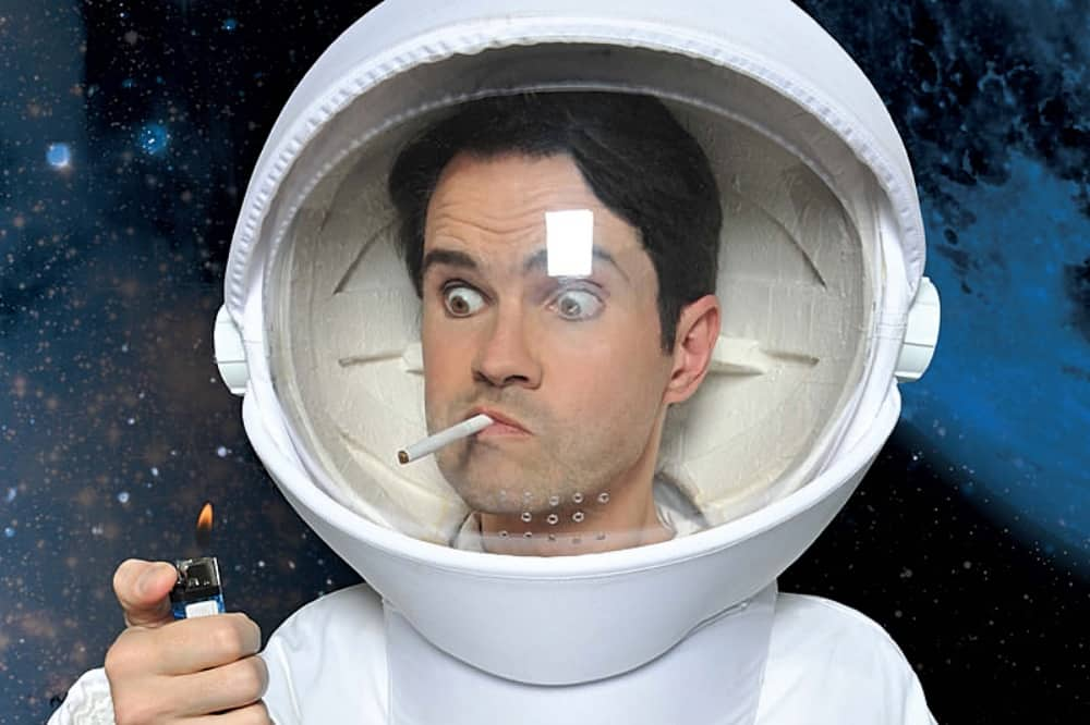Jimmy Carr Terribly Funny smoking astronaut