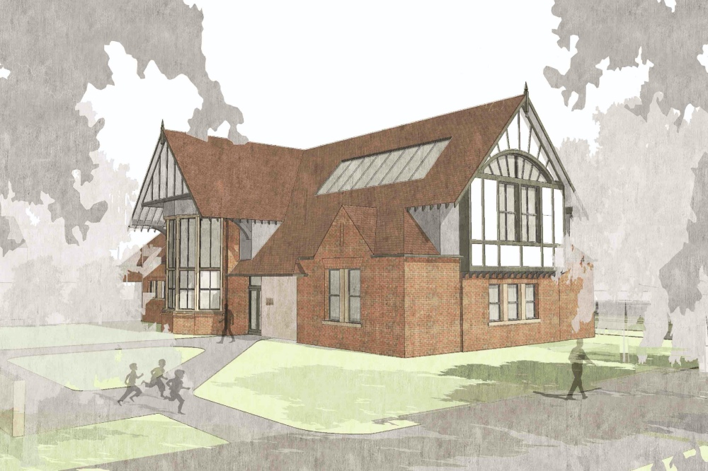 Ludgrove Schol artist illustration of new STEAM building The Exploration Centre