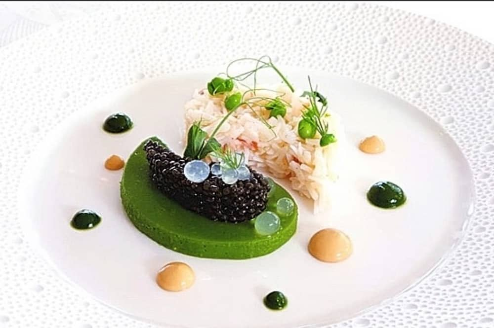 Roux Waterside Inn Bray crab caviar