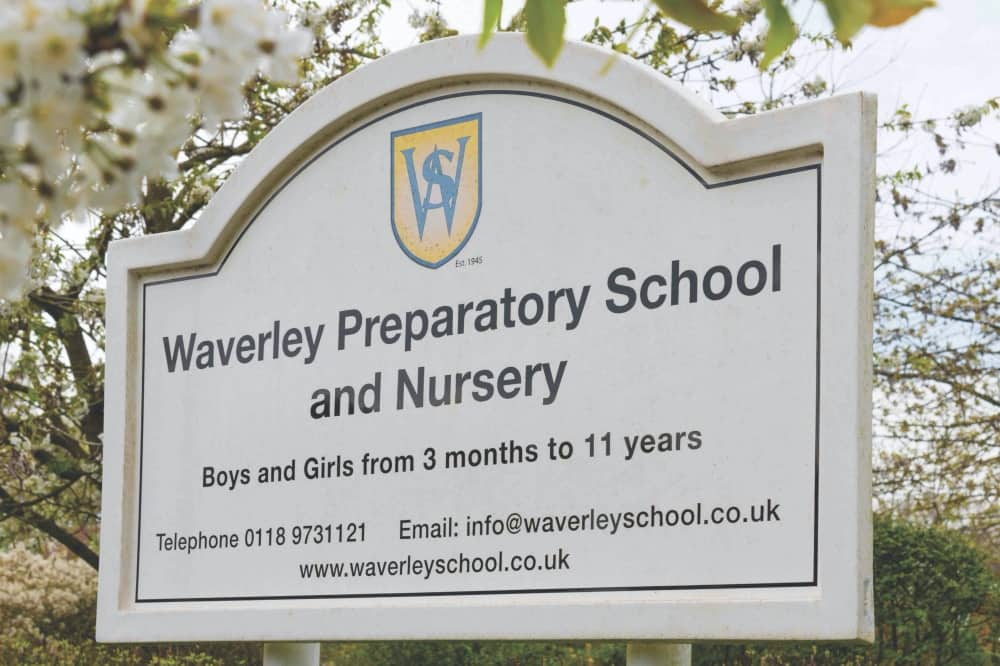 Waverley Prep School and Nursery sign Wokingham Berkshire