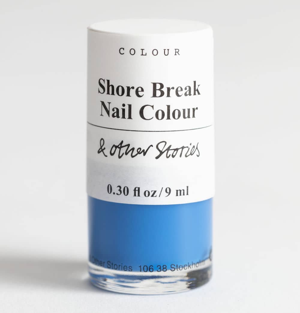& Other Stores Shore Break blue nail polish