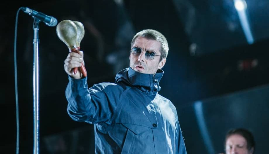 Singer liam_gallagher on stage at_Reading_Festival