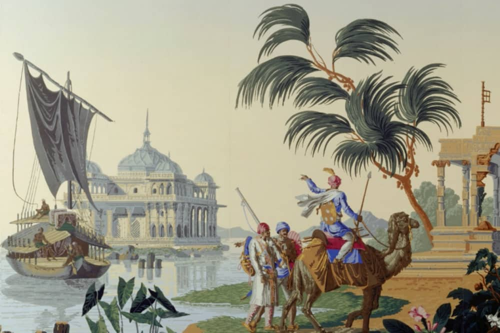 India and Me Basildon Park painting of Indian merchant trader