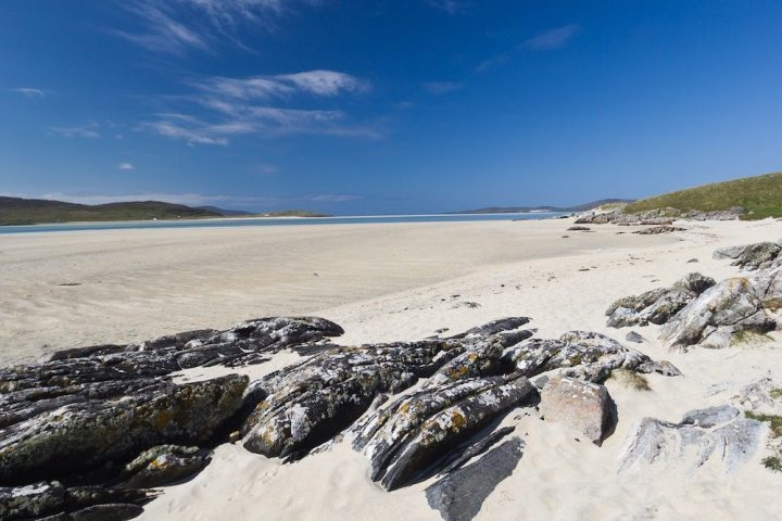 Scottish Isles blue sky white sandy beaches