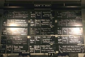 Sit and Sip Craft lager menu blackboard