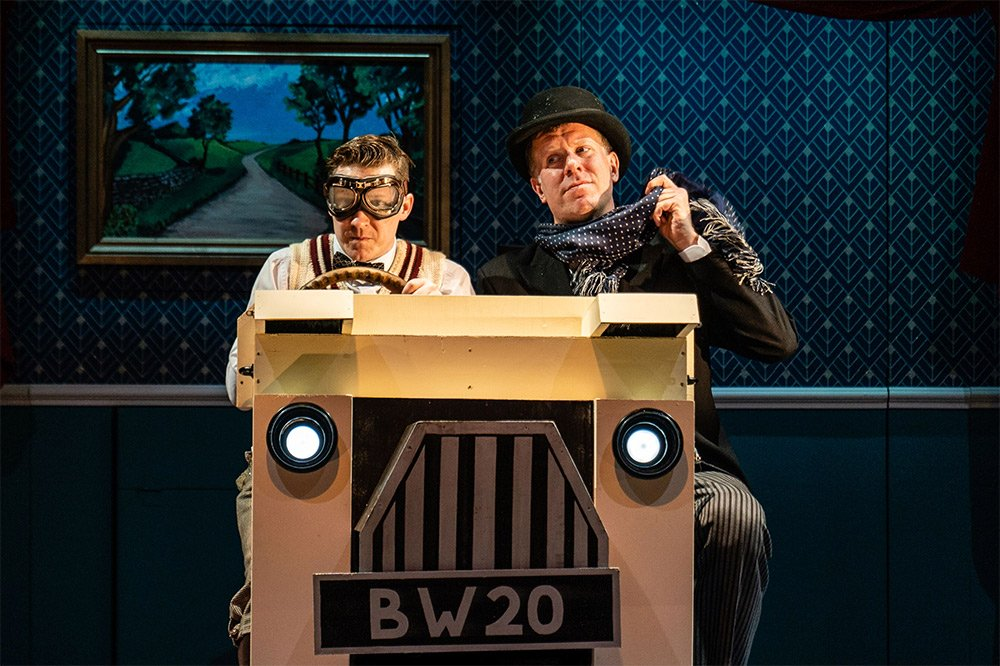 Jeeves and Wooster Perfect Nonsense two mennin cardboard car