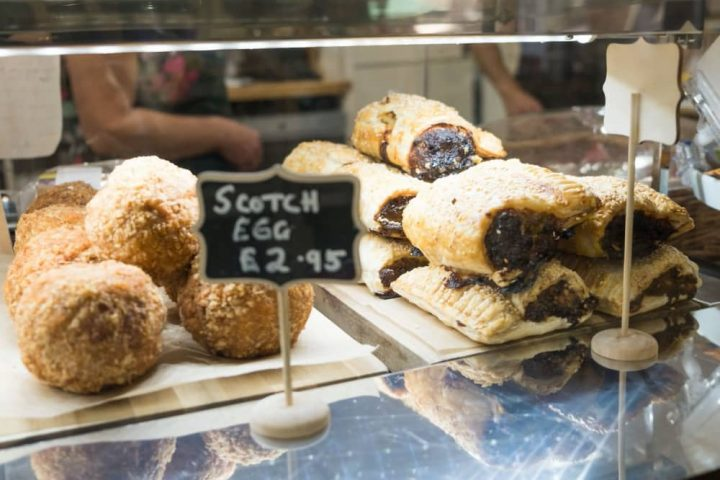 Hampstead Norreys village shop and courtyard cafe homemade scotch eggs and sausage rolls