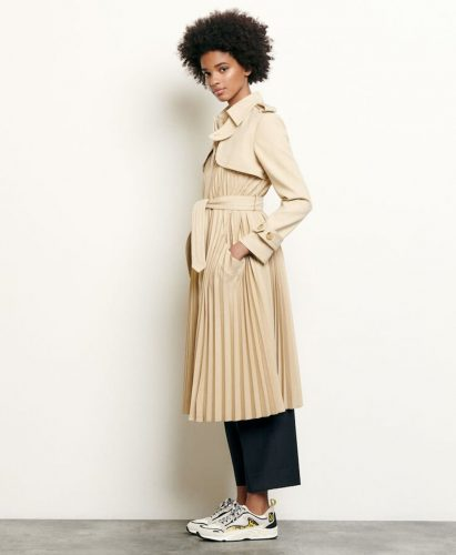 Sandro pleated trench coat