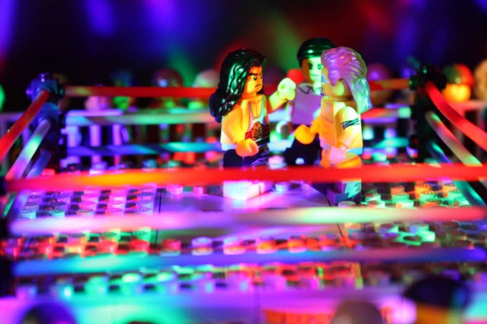 Lego WWF-Ultimate-Warrior-fight in ring