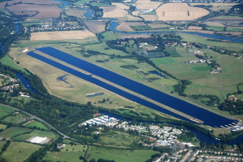aerial view of Dorney Lake Berkshire