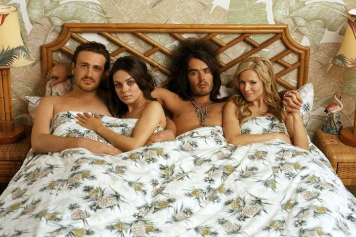 Forgetting Sarah Marshall two couples in a bed