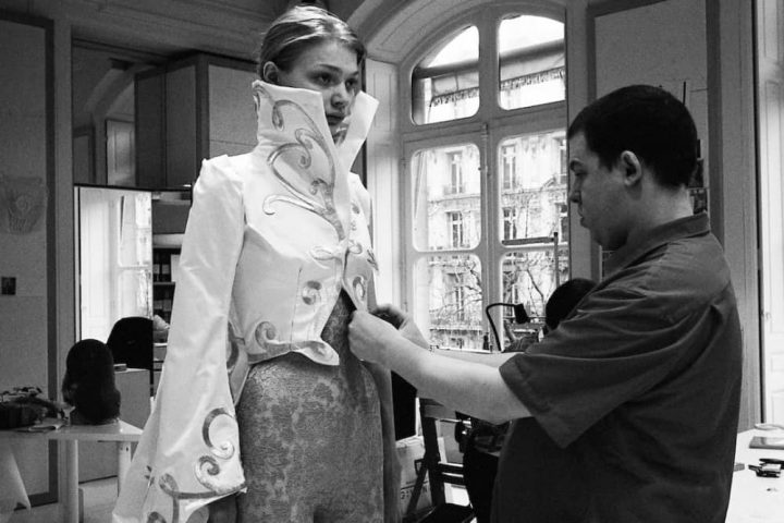 McQueen film Netflix Alexander McQueen fitting with model Jodie Kidd