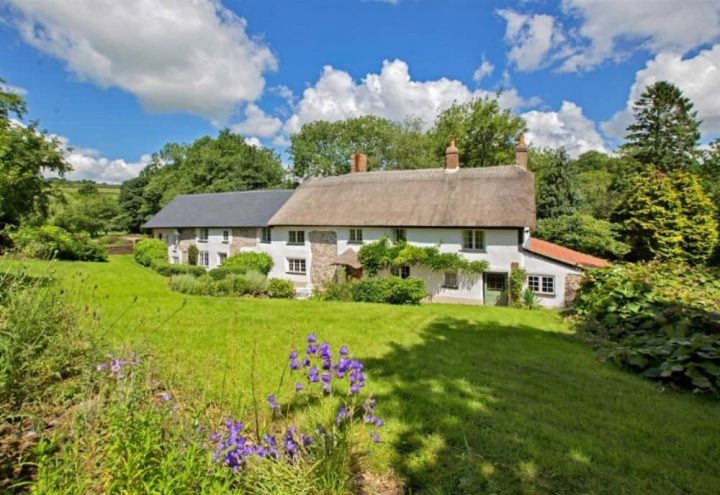 Mill house in Tiverton Devon for sale thatch and salte roof 3.75 acres of mature gardens