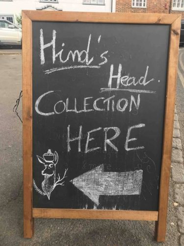 Hind's Head Collection sign