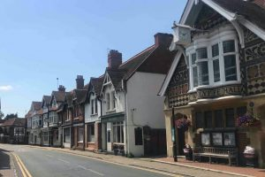 Wargrave high street Tudor Edwardian and Georgian shops, pubs and houses