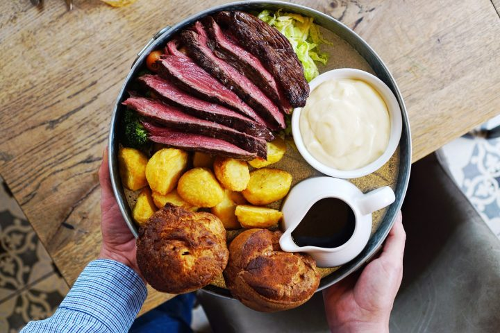 Shurlock Inn roast beef with yorkshire puddings and roast potatos