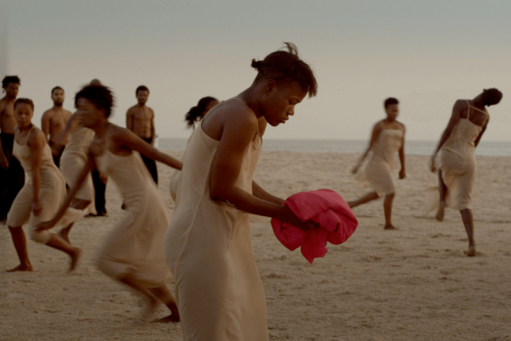 Dancing at Dusk film about the restaging of Pina Bausch's 1975 creation The Rite of Spring performed on a beach in Senegal