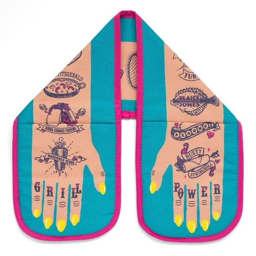 Grill-power-oven-gloves tattoo print