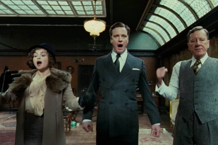 Colin Firth Geoffrey Rush and Helena Bonham Carter The King's Speech