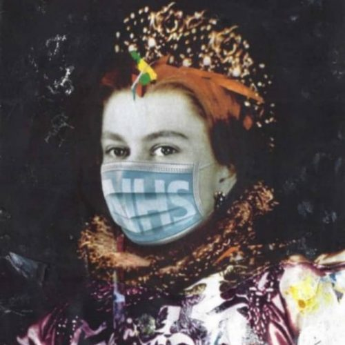 Nasser Azam Queen in NHS face mask