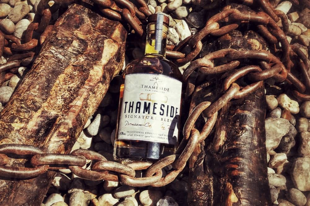 Thameside Signature blend Rum boat chain and driftwood