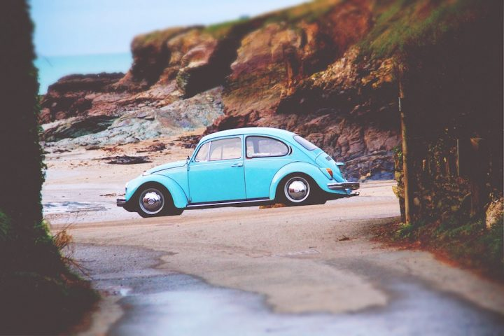 VW Beetle on the beach
